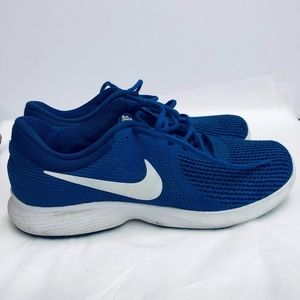 Nike Shoes - Nike Royal Blue Lace Up Mesh Running Sneakers